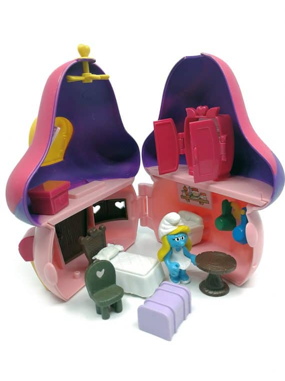 Smølfine hus med møbler